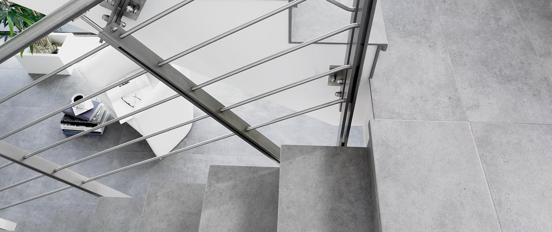 Fugenlose Treppen-Fliesen von Interbau Blink, Fliesengalerie Burgkunstadt